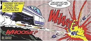 Whaam! - Dave Gibbons created an alternate version of the Novick original with text that parodies Lichtenstein's work.