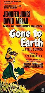 <i>Gone to Earth</i> (film) 1950 film by Michael Powell, Emeric Pressburger