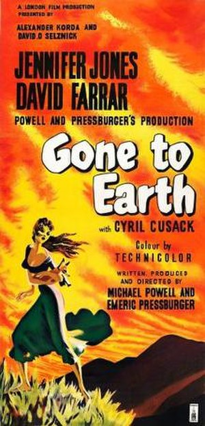 Gone to Earth (film) - theatrical release poster
