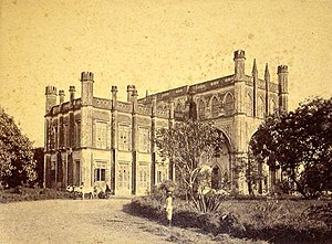 Grant Medical College and Sir Jamshedjee Jeejeebhoy Group of Hospitals - Old Grant Medical College building, 1860.