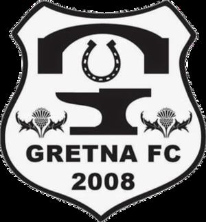 Gretna F.C. 2008 - Image: Gretna 2008 FC Crest New