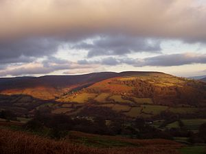 Black Mountains, Wales - The southern part of the Grwyne Fechan valley in the Black Mountains