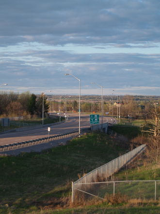 Ontario Highway 7 - Until 2015, Highway 407 merged into Highway 7 in Pickering; this section was rebuilt as Highway 407E, opening on June 20, 2016