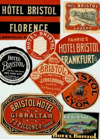 Hotel Bristol - Hotel Bristol labels