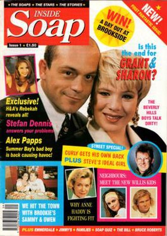 Inside Soap - First issue cover (October 1992)
