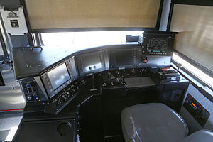 Sishen–Saldanha railway line - Inside the cab of a locomotive
