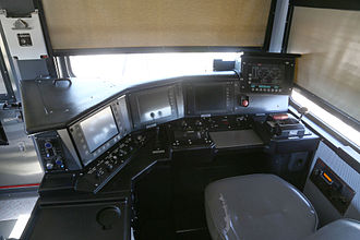 Sishen–Saldanha railway line - Inside the cab of a locomotive