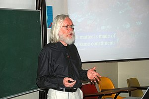 John Ellis (physicist) - John Ellis at the Birzeit University in November 2008