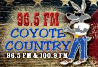 KBKZ - Image: KBKZ Coyote Country 96.5 100.9 logo