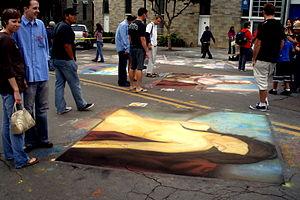 Little Italy, San Diego - 2007 Corso degli Artisti Street Painting Festival