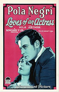 <i>Loves of an Actress</i> 1928 film