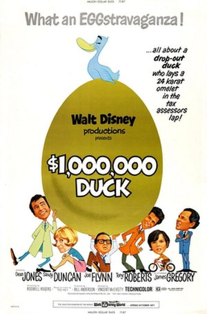 The Million Dollar Duck - Theatrical release poster designed by Ward Kimball and Ted Berman