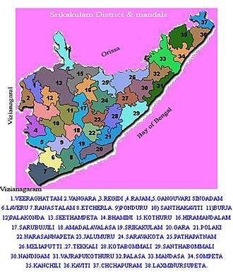 Srikakulam district - Srikakulam district mandals map