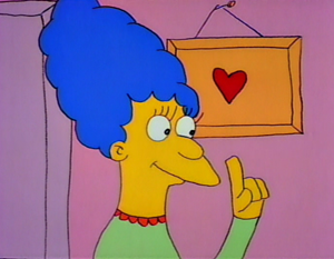 "Marge Simpson - Marge in her first televised appearance in ""Good Night""."