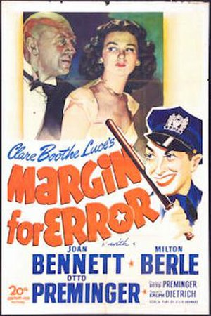 Margin for Error - US Theatrical Poster