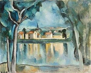 Maurice de Vlaminck - Maurice de Vlaminck, c.1909, Town on the Bank of a Lake, oil on canvas, 81.3 x 100.3 cm, Hermitage Museum, Saint Petersburg