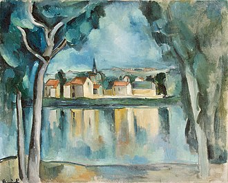 Maurice de Vlaminck - Town on the Bank of a Lake, c.1909, oil on canvas, 81.3 x 100.3 cm, Hermitage Museum, Saint Petersburg
