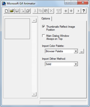 Microsoft GIF Animator in Windows 7