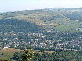 Mytholmroyd Village in Calderdale, West Yorkshire, England