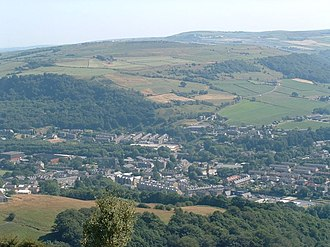 Mytholmroyd - Image: Mytholmroyd vista