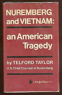 <i>Nuremberg and Vietnam</i> book by Telford Taylor