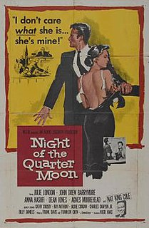 <i>Night of the Quarter Moon</i> 1959 film by Hugo Haas