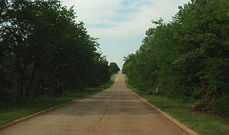Oklahoma State Highway 18 - Old SH-18 north of Asher