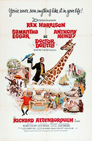 Doctor Dolittle (film) - Theatrical release poster by Tom Chantrell