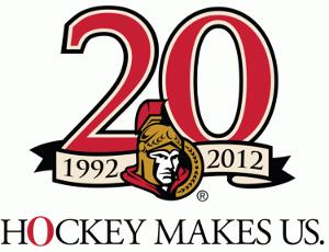 2011–12 Ottawa Senators season - The Ottawa Senators 20th Anniversary patch