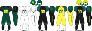 2006 Oregon Ducks football team - Image: Pac 10 Uniform UO 2006