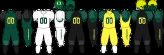 2006 Oregon Ducks football team - Image: Pac 10 Uniform UO 2006