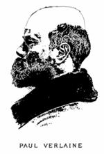 Paul Verlaine illustrated in the frontispiece of Oeuvres complètes de Paul Verlaine, Vol. 1, 1902