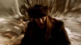 12 Gauge (Kalmah album) - Pekka Kokko singing. Camera effects simulated the influences of a mysterious drink.