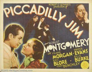 Piccadilly Jim (1936 film) - Theatrical release lobby card