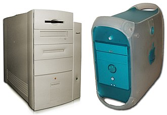 Power Macintosh G3 - The Power Macintosh G3 Mini Tower (left) and Power Macintosh G3 Blue and White (right)