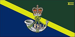 The Royal Hamilton Light Infantry (Wentworth Regiment) - The camp flag of the Royal Hamilton Light Infantry (Wentworth Regiment).
