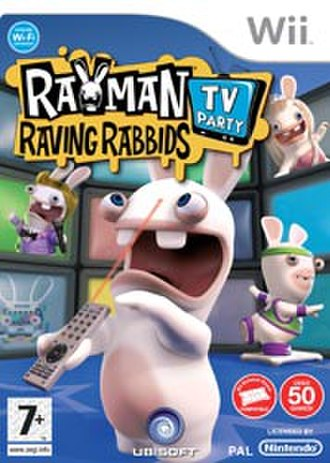 Rayman Raving Rabbids: TV Party - European Wii cover art