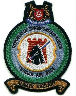 RSAF Black Knights - Tengah Air Base crest with the prominent Black Knight centerpiece.