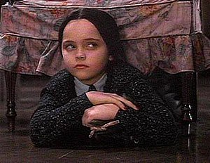 Wednesday Addams - Christina Ricci as Wednesday in The Addams Family.