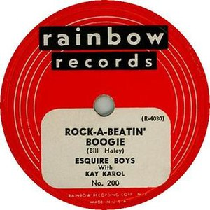 "Danny Cedrone - 1952 recording of ""Rock-A-Beatin' Boogie"" released as a Rainbow Records 78, 200."