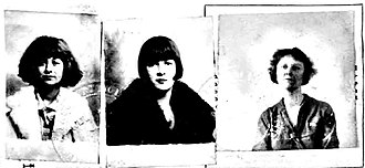Rose Thompson Hovick - Ellen June, Rose Louise (Gypsy), and mother Rose Hovick passport photo