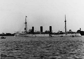 SMS Gefion - Gefion, probably during her deployment to the East Asia Squadron