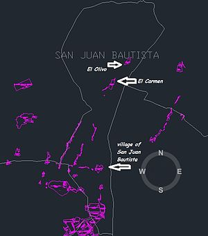 San Juan Bautista District, Ica - Primary villages within San Juan Bautista District, which is an agricultural area focused on grape production just north of Ica, Peru