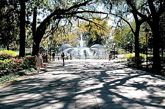 Forsyth Park - Forsyth Park north entrance