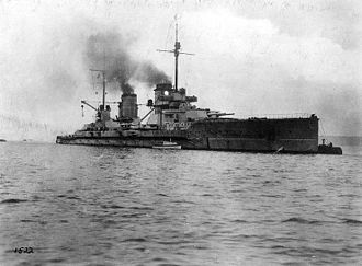 SMS Seydlitz - Seydlitz moored in harbor, c. 1914–1916
