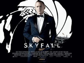 Skyfall - UK theatrical release poster