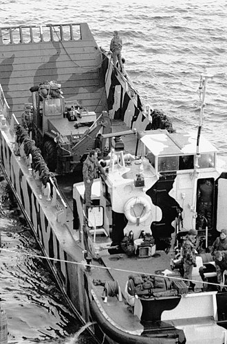 British naval forces in the Falklands War - Large Tango - Intrepid LCU.