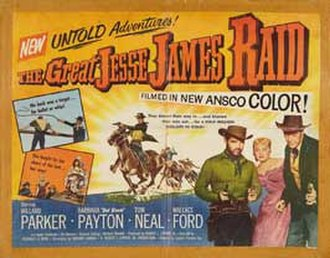 The Great Jesse James Raid - Theatrical release poster