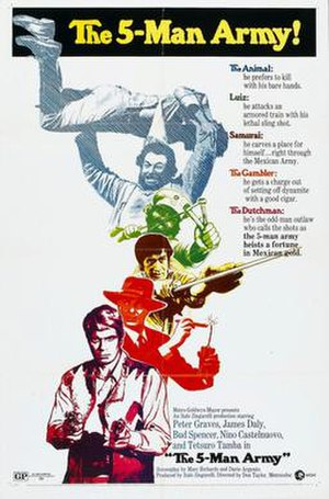 The Five Man Army - Film poster