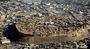 Mulla Effendi - An aerial view of Citadel of Arbil on January 2008 shows the Great Mosque at the center. The Great Mosque is considered to be the oldest mosque in Arbil. It is also known as the White Mosque, Citadel Mosque, or Mulla Effendi Mosque.
